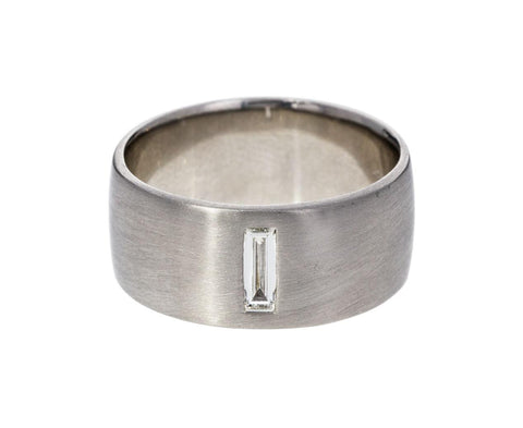 Men's White Gold Diamond Baguette Band - TWISTonline