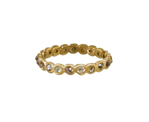 Natural Rose Cut Diamond Eternity Ring - TWISTonline