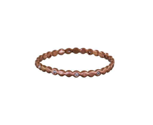 Rose Gold Small Eternity Bubble Band - TWISTonline
