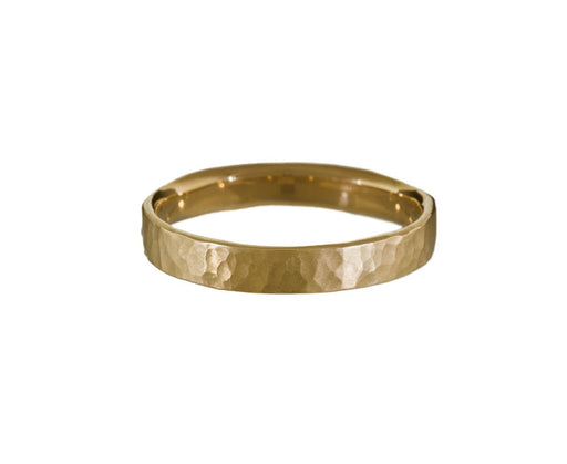 Men's Narrow Flat Hammered Band - TWISTonline
