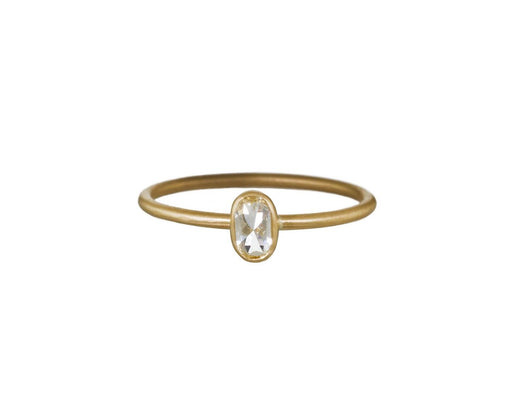 Oval Rose Cut Diamond Solitaire - TWISTonline
