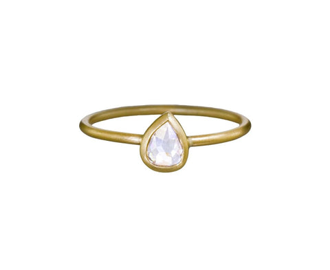 Pear Rose Cut Diamond Ring - TWISTonline