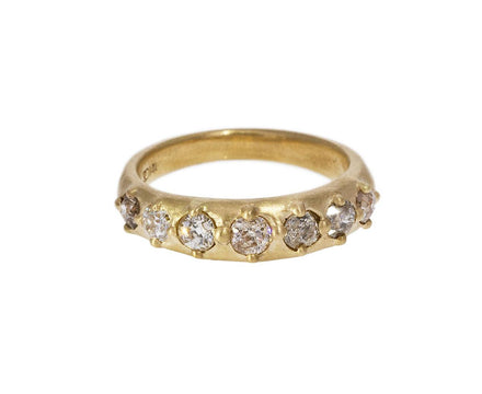 Champagne Old Mine Cut Diamond Bead Ring - TWISTonline