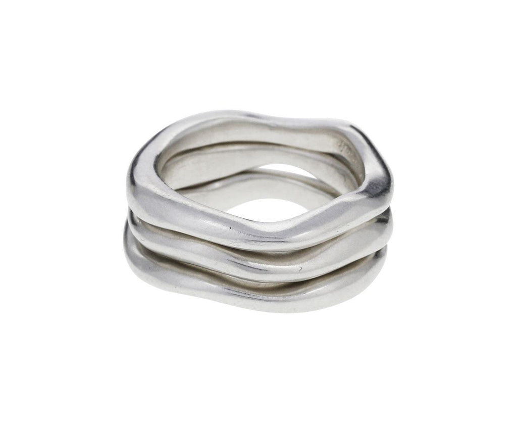 Stack of Three Sterling Silver Wavy Rings zoom 1_jill_platner_silver_wavy_stack_ring