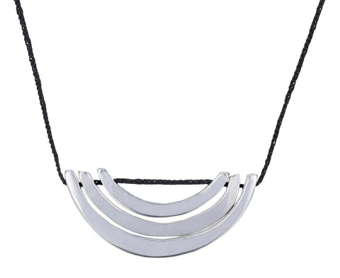 Silver Curved Bar Necklace - TWISTonline