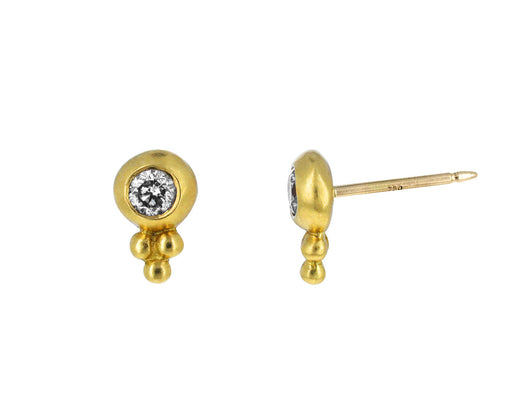 Diamond Baby Bulla Stud Earrings