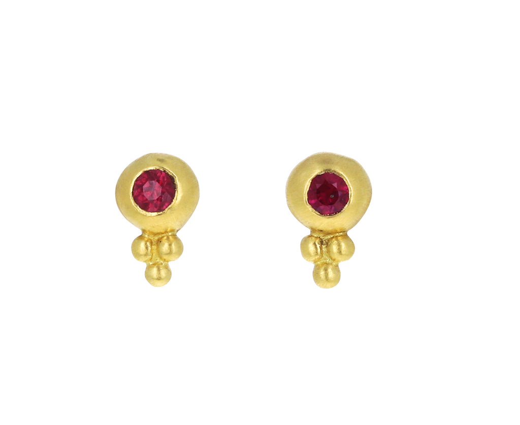 Ruby Baby Bulla Stud Earrings