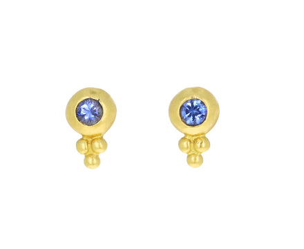Blue Sapphire Baby Bulla Stud Earrings