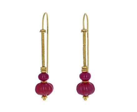 Duo Ruby Linea Earrings