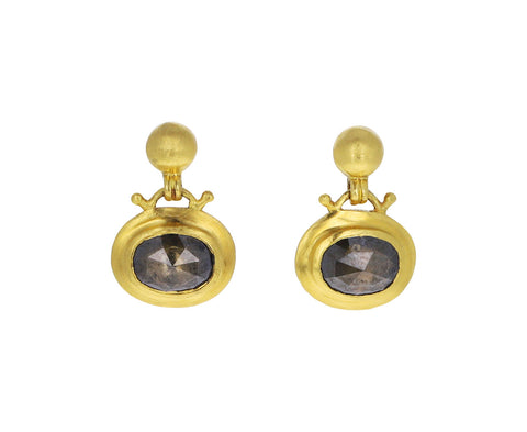 Brown Diamond Bell Earrings