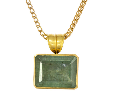 Green Beryl Block Pendant ONLY - TWISTonline