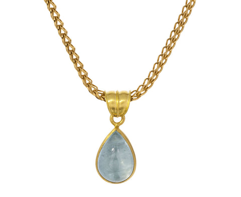 Aquamarine Tear Pendant ONLY - TWISTonline