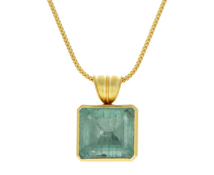 Green Beryl Block Pendant ONLY