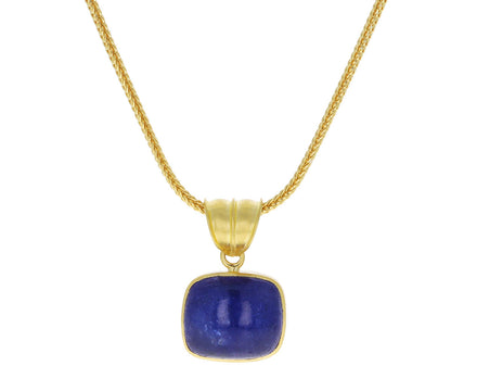 Tanzanite Block Pendant Necklace