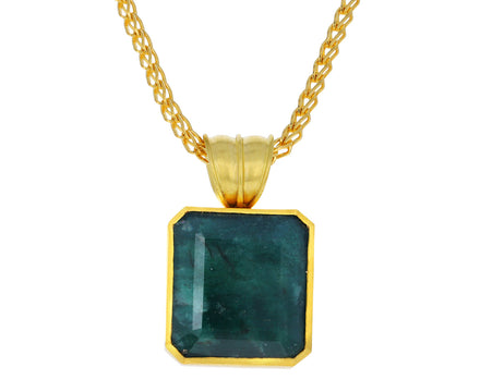 Opaque Emerald Block Pendant ONLY