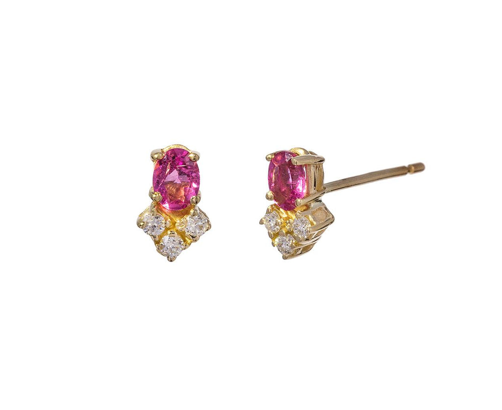 Pink Tourmaline and Diamond Trio Earrings - TWISTonline