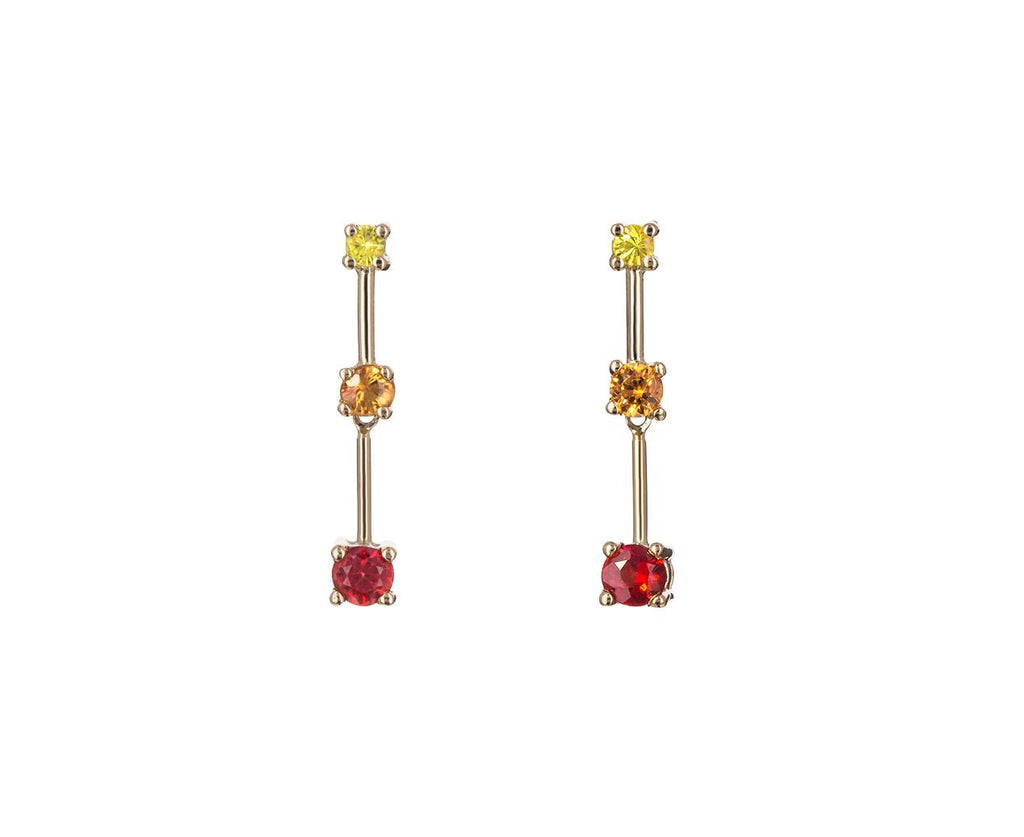 Trio Gem Bar Earrings - TWISTonline