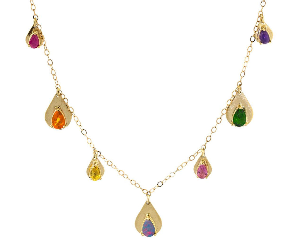 Multi Gem Drop Necklace - TWISTonline