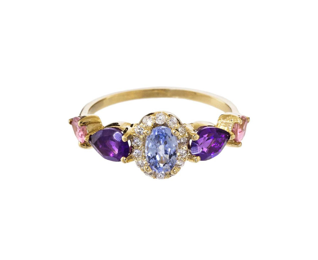 Aquamarine and Amethyst Ring - TWISTonline