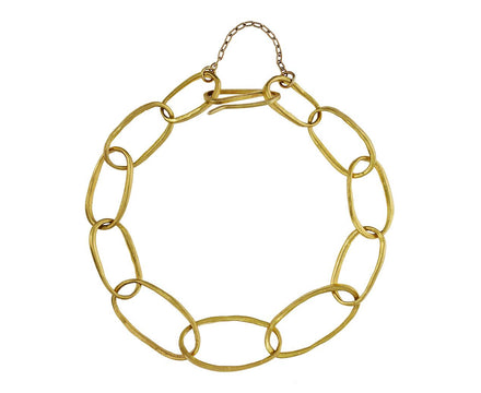 Gold Oval Link Chain Bracelet - TWISTonline