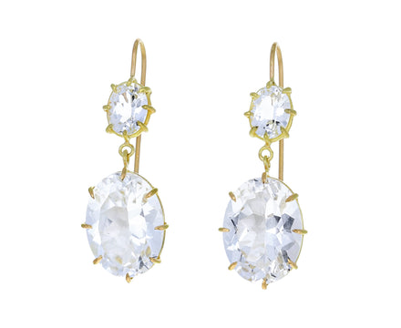 White Topaz Double Drop Earrings - TWISTonline