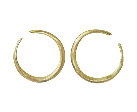 Gold Crescent Moon Earrings - TWISTonline