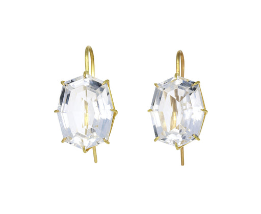 Octagonal White Topaz Earrings - TWISTonline