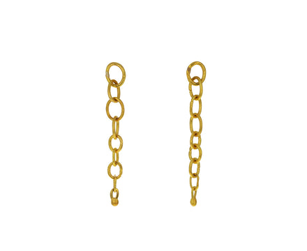 Oval Link Dangle Earrings