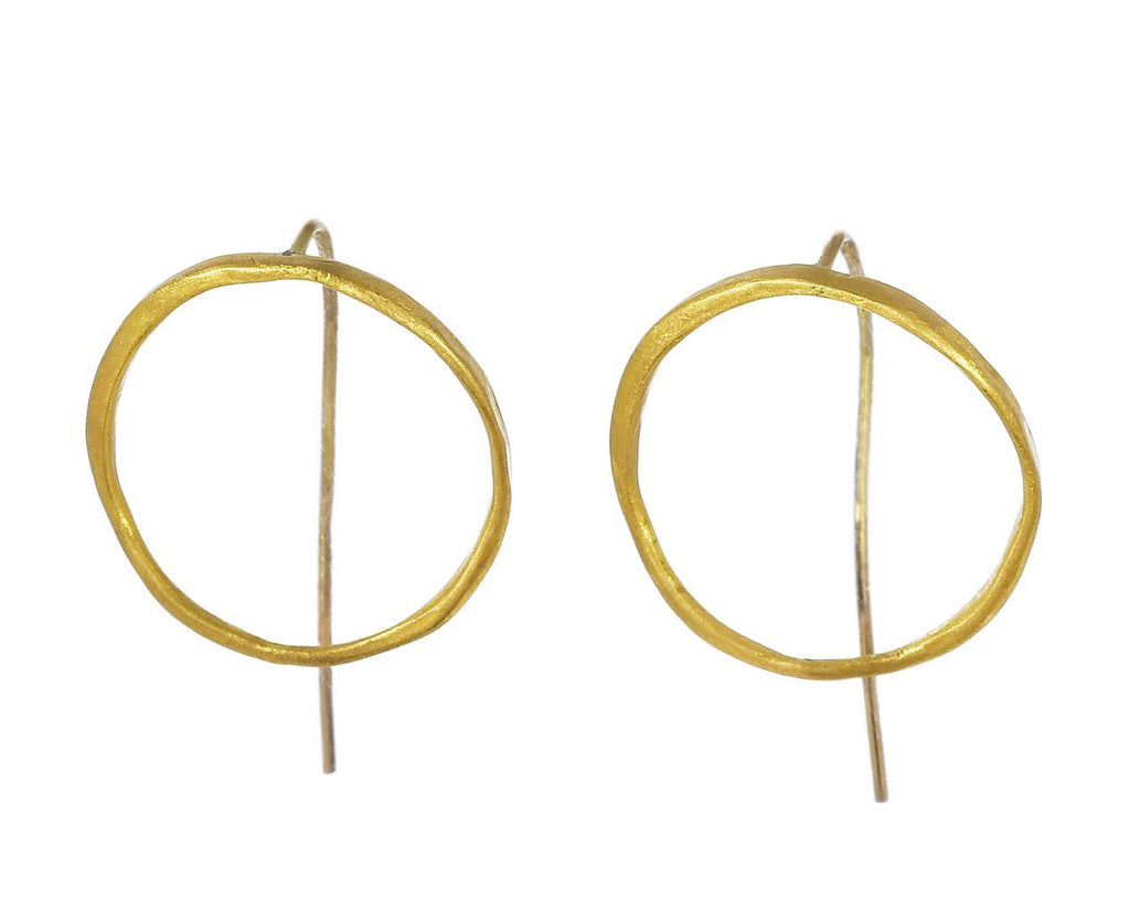 Thick and Thin Gold Circle Earrings - TWISTonline