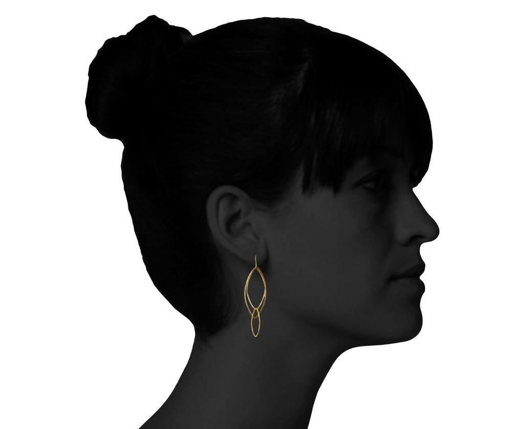 Orchid Leaf Dangle Earrings - TWISTonline