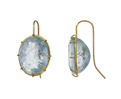 Oval Aquamarine Earrings - TWISTonline