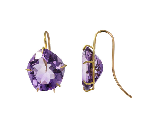 Asymmetrical Amethyst Drop Earrings - TWISTonline
