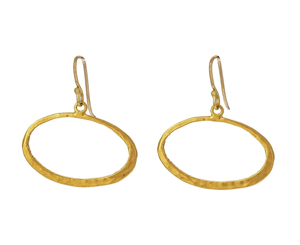 Gold Oval Hoop Earrings - TWISTonline