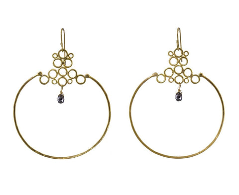 Morocco Hoops with Black Diamonds zoom 1_rosanne_puliese_earrings