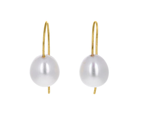 Freshwater Pearl Minimalist Earrings