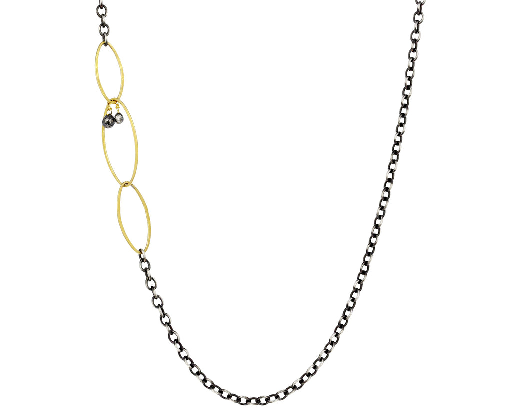 Sterling Silver and Gold Link Chain Necklace