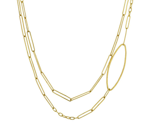Handmade Gold Chain with Oval zoom 1_rosanne_pugliese_gold_handmade_chain_necklace