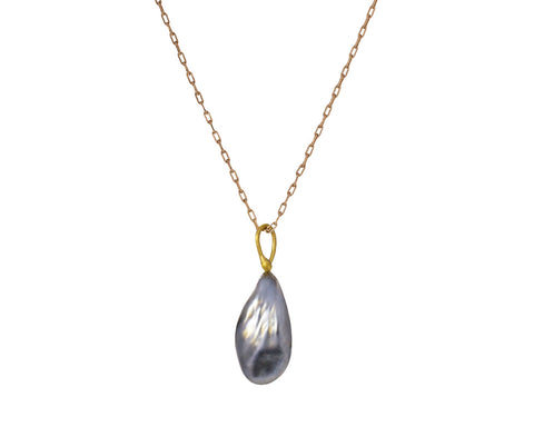 Keshi Teardrop Pearl Necklace