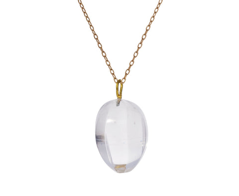 Carved Rock Quartz Seed Pod Pendant Necklace - TWISTonline