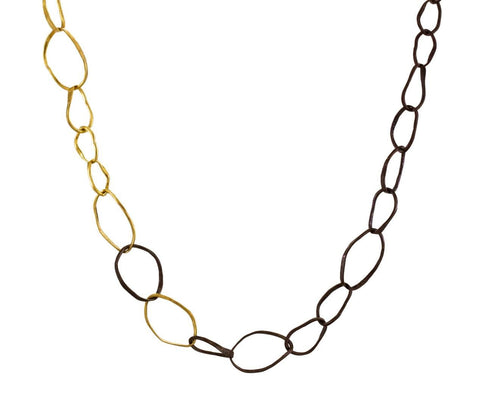 Two-Tone Pebble Necklace - TWISTonline