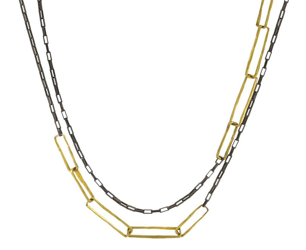 Mixed Metal Chain Necklace - TWISTonline