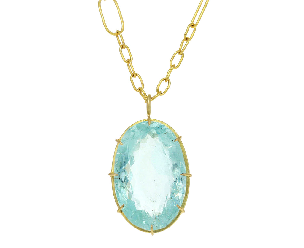 Oval Beryl Pendant Necklace