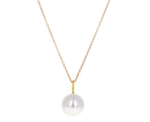 Round South Sea Pearl Pendant Necklace