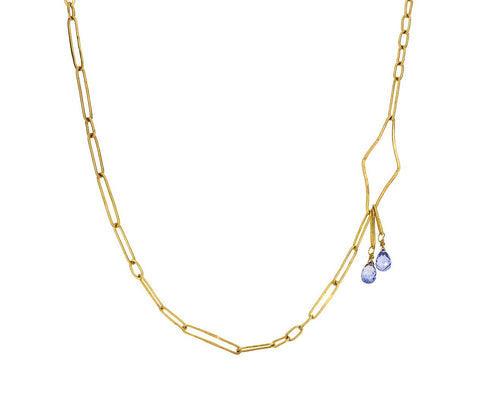 Gold Starburst Chain Necklace with Sapphire zoom 1_rosanne_pugliese_gold_starburst_chain_sapphire_n