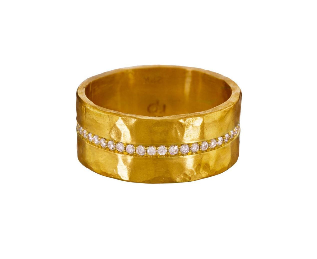 Wide Diamond Pavé Band - TWISTonline