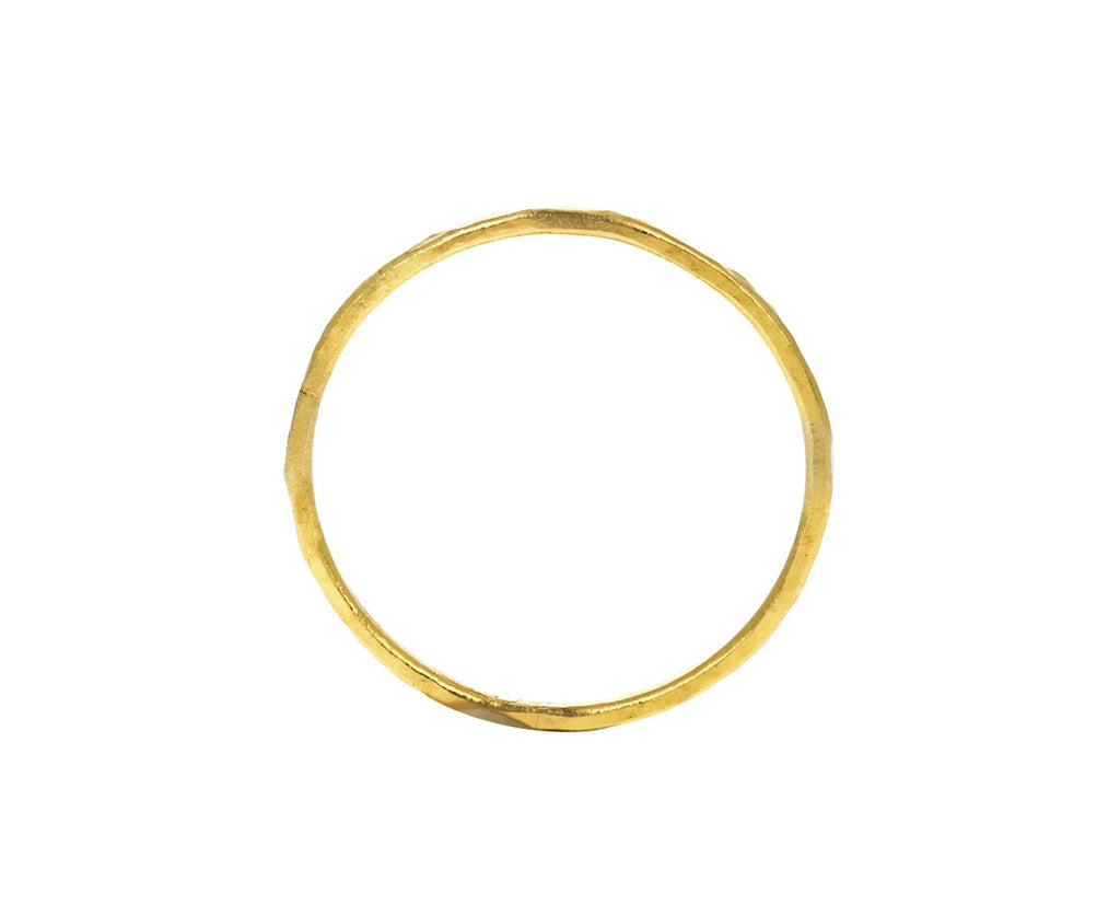Thin Hammered Gold Band