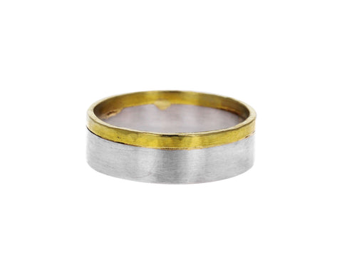 Men's Wide Two Tone Band