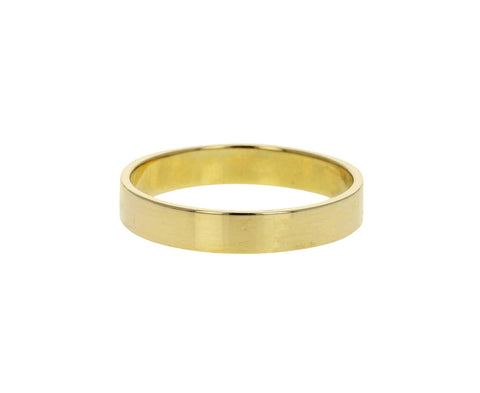 4mm Polished Gold Square Edge Men's Band