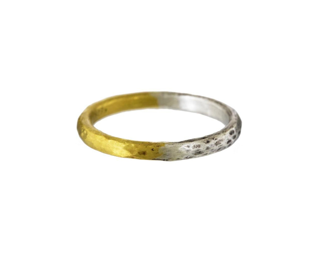 Tubular Bi-Metal Band  zoom 1_rosanne_pugliese_gold_two_tone_tubular_ring