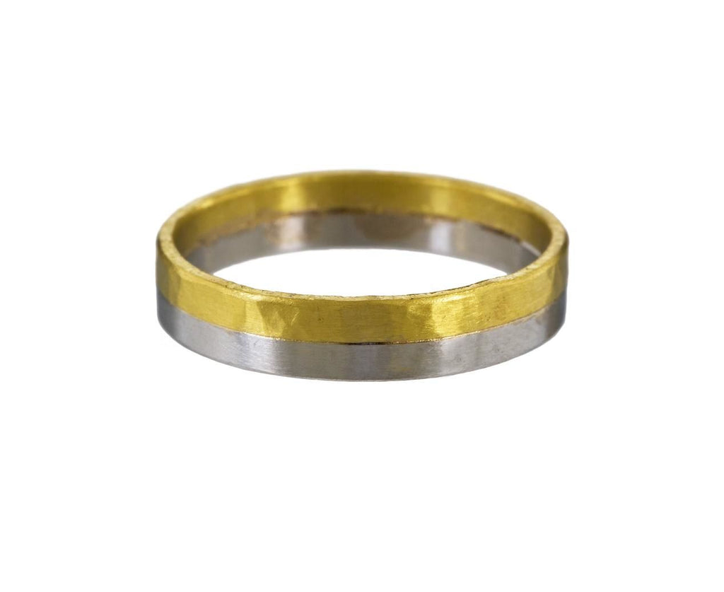 Men's Two-Tone Band zoom 1_rosanne_pugliese_gold_platinum_half_wedding_band